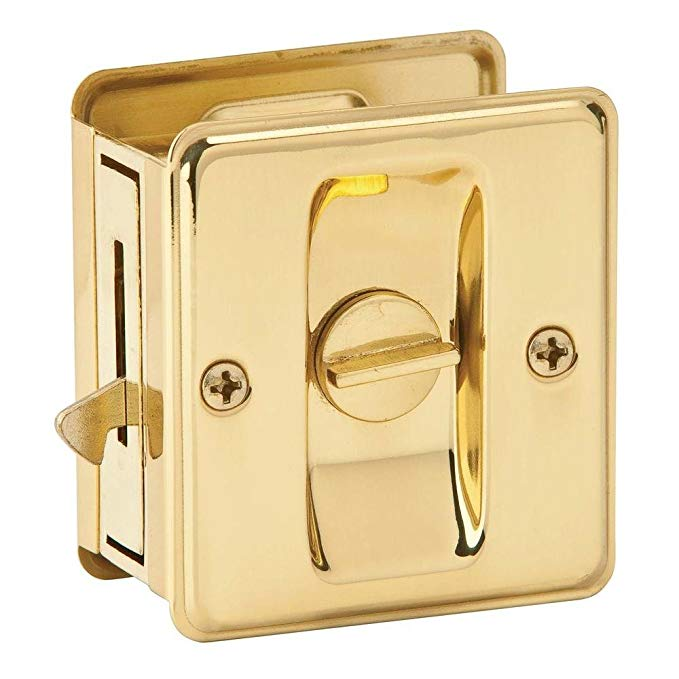 An image of Schlage 46-101 Privacy Polished Brass Lock