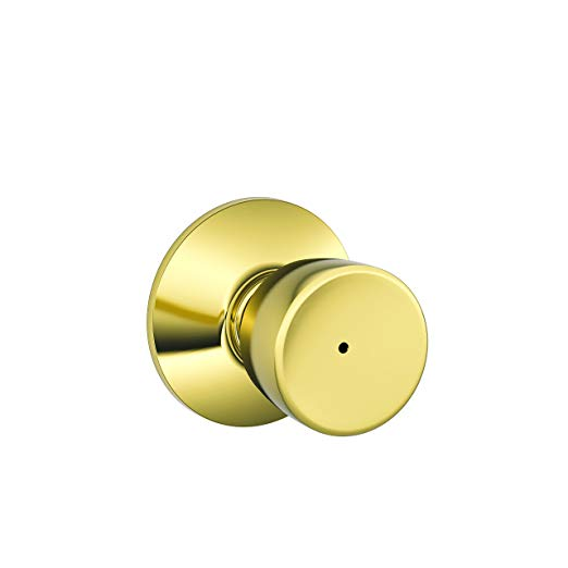 An image related to Schlage F40BEL605625 Privacy Polished Brass Lock