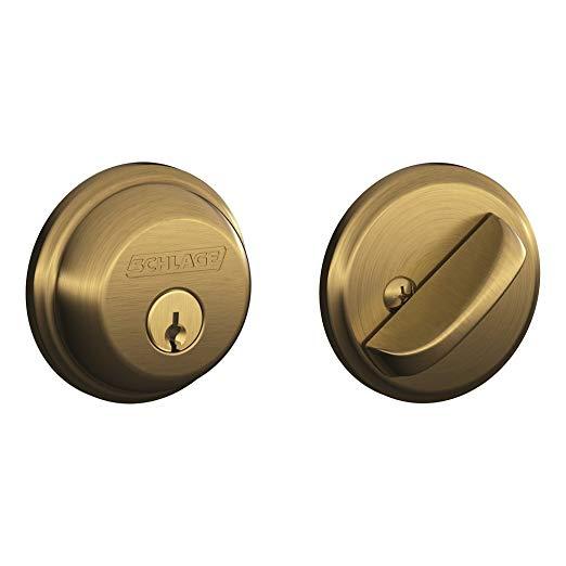 An image of Schlage B60N609 Brass Lock