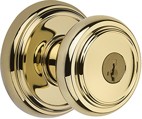 An image of Baldwin 93540-008 Entry Zinc Polished Brass Lock | Door Lock Guide