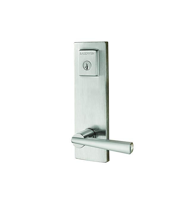An image of Baldwin 91830-001 Satin Nickel Lever Lockset Door Lock | Door Lock Guide