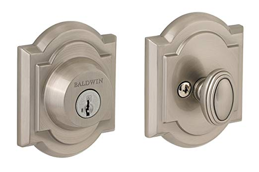 An image related to Baldwin 93800-011 Zinc Satin Nickel Lock
