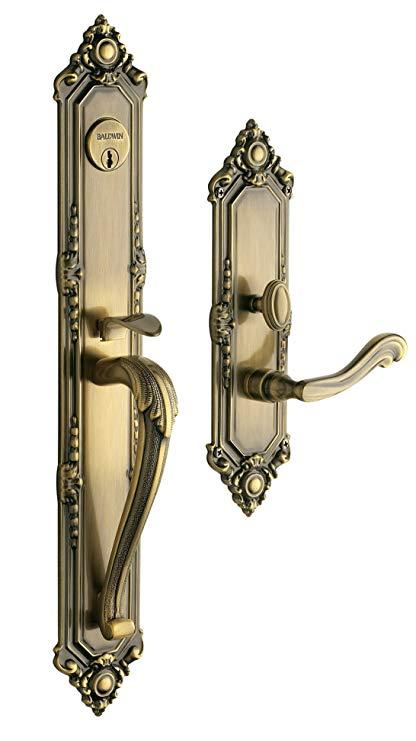 An image of Baldwin 6950050RENT Brass Satin Brass Lock | Door Lock Guide