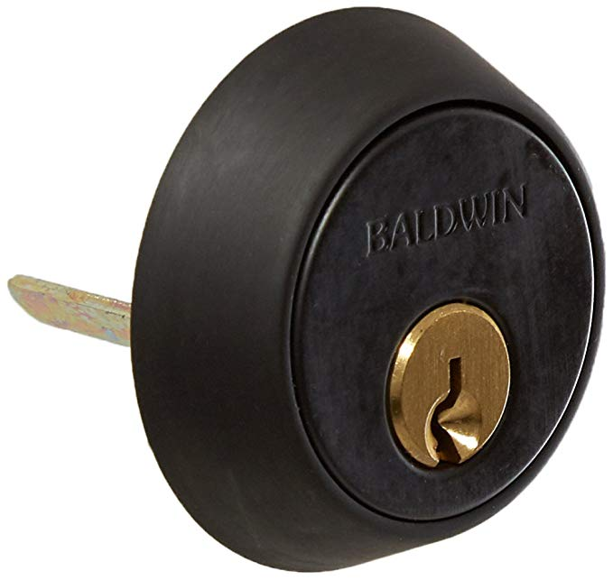 An image of Baldwin 8041.102 Brass Oil-Rubbed Bronze Lock