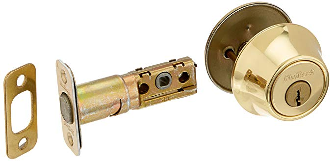 An image of Kwikset 96600-013 Polished Brass Lever Lockset Lock | Door Lock Guide