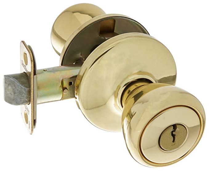 An image related to Kwikset 94002-828 Entry Polished Brass Lock