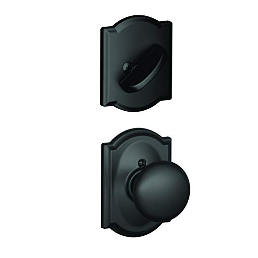 An image related to Schlage F59PLY622CAM Black Lock