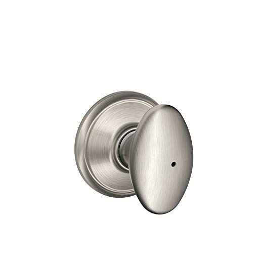 An image related to Schlage F40VSIE619 Bathroom Privacy Satin Nickel Lock