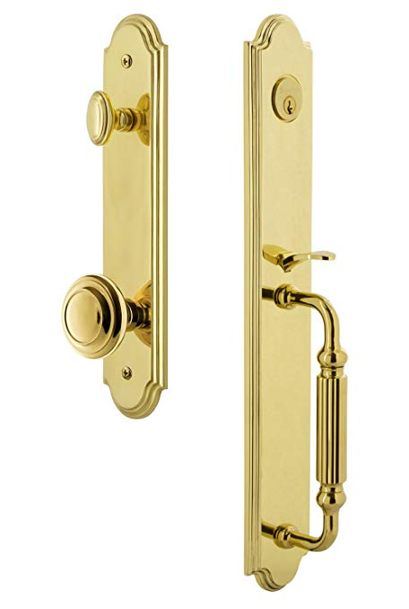 An image related to Grandeur 843850 Brass Lever Lockset Lock