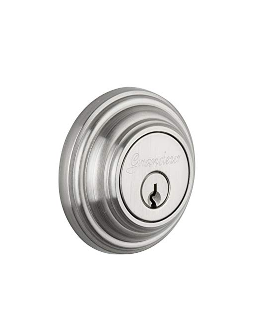 An image of Grandeur GEO-62-SN-KD House Satin Nickel Lock