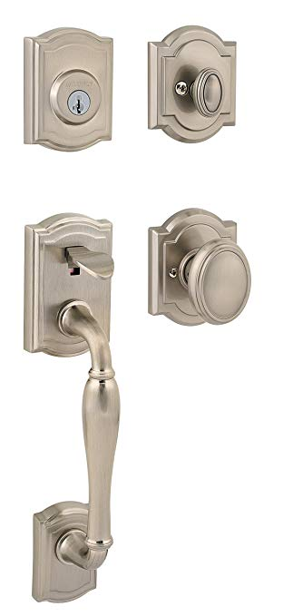 An image of Baldwin 91800-035 Brass Satin Nickel Lock