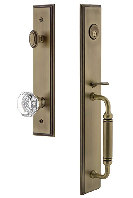 An image related to Grandeur 842274 Brass Lever Lockset Lock
