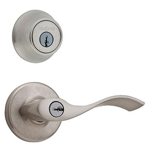 An image of Kwikset 96900-353 Entry Nickel Lever Lockset Lock
