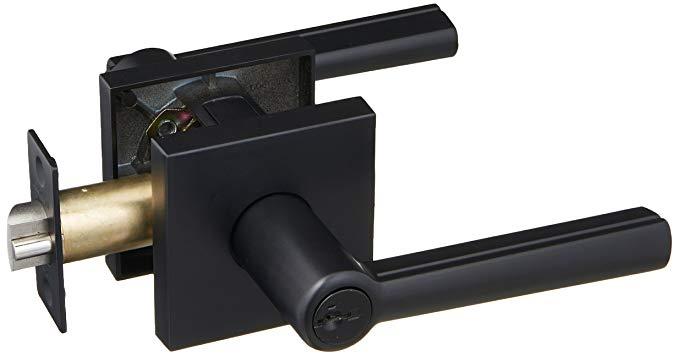 An image of Kwikset 156MRLSQT-514S Entry Black Lock | Door Lock Guide