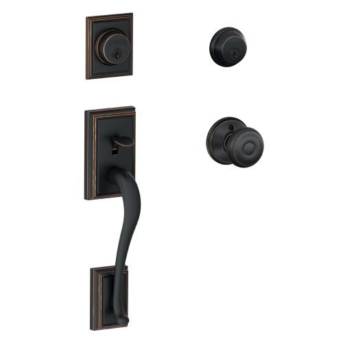 An image related to Schlage F62ADD716GEO Aged Bronze Lock
