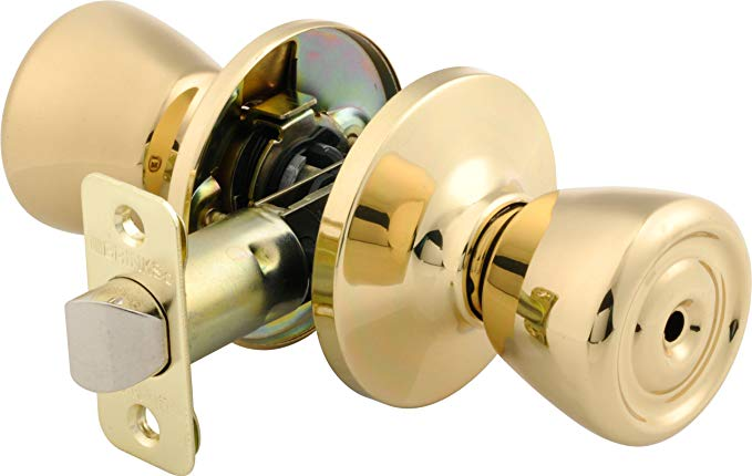 An image of BRINKS 2111-105 Bedroom Privacy Polished Brass Lock | Door Lock Guide