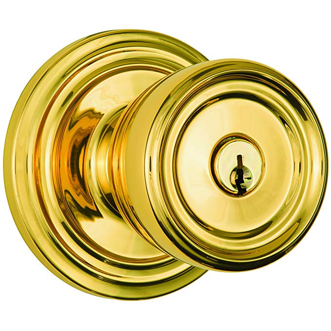 An image related to BRINKS 23005-105 Bathroom Entry Polished Brass Lever Lockset Door Lock