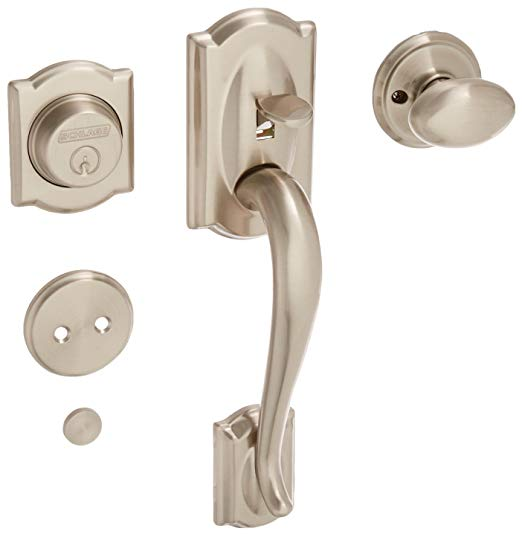 An image related to Schlage F93CAM619SIE Brass Lever Lockset Lock