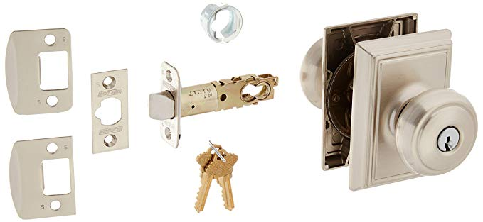An image related to Schlage F51AAND619ADD Entry Satin Nickel Lock