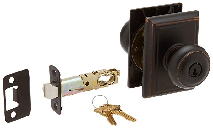 An image of Schlage F51AGEO716ADD Entry Aged Bronze Lock | Door Lock Guide