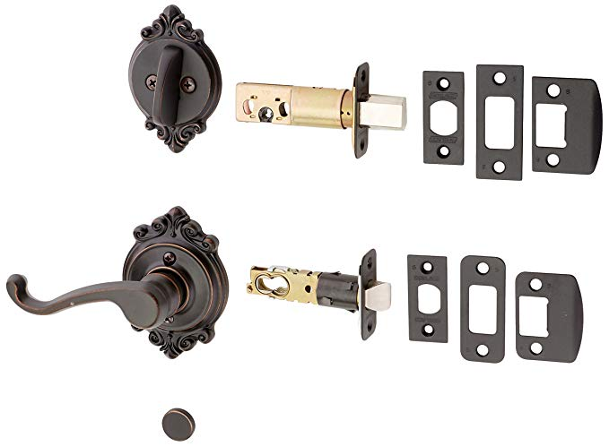 An image related to Schlage F59CLT716BRKLH Aged Bronze Lever Lockset Lock