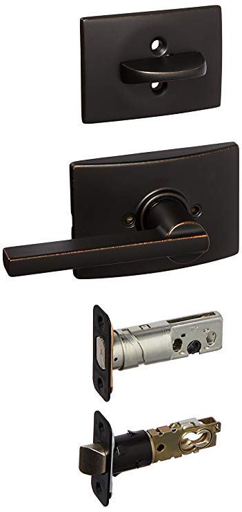 An image related to Schlage F59LAT716CEN Aged Bronze Lever Lockset Lock
