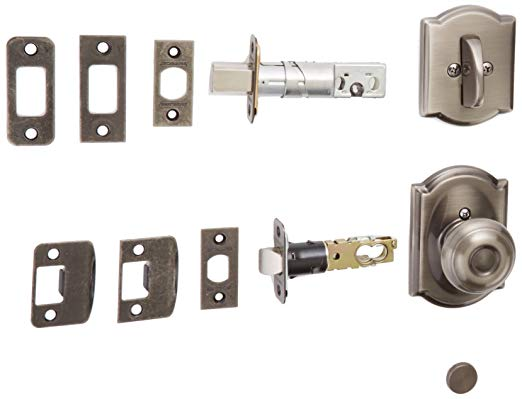 An image of Schlage F59GEO620CAM Pewter Lock