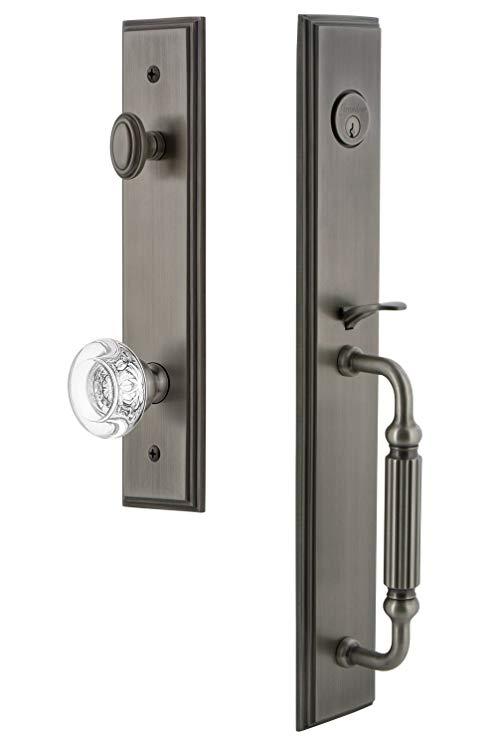 An image related to Grandeur 844687 Brass Pewter Lever Lockset Lock