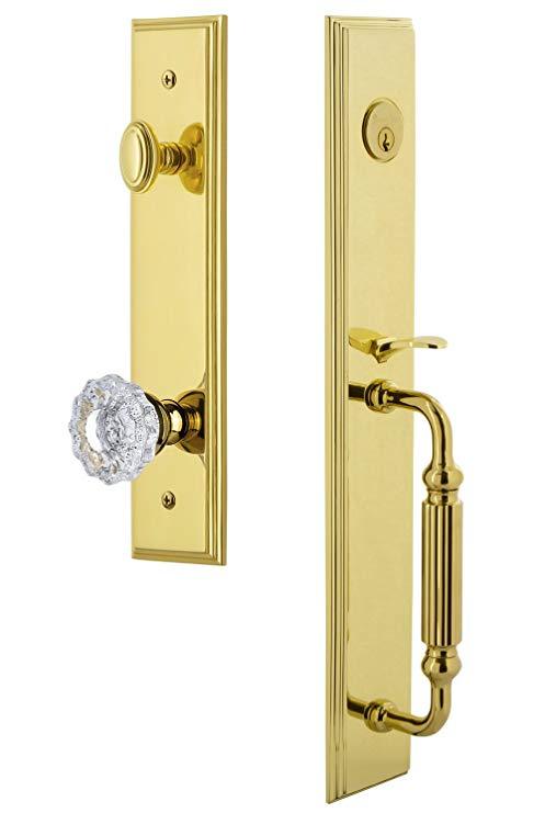 An image of Grandeur 845467 Brass Lever Lockset Lock | Door Lock Guide