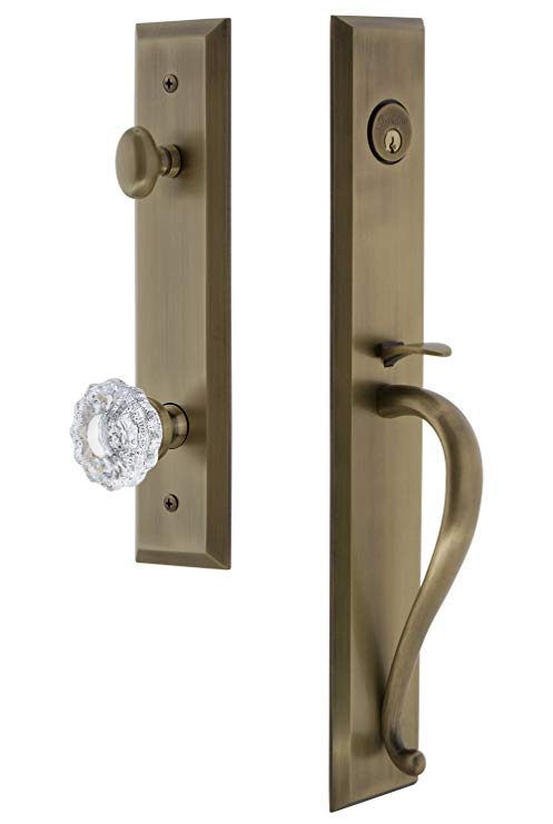 An image of Grandeur 846596 Brass Lever Lockset Lock