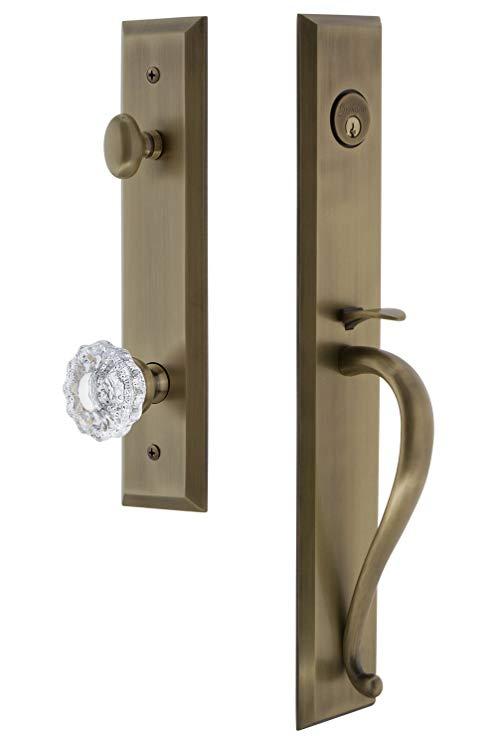 An image related to Grandeur 846596 Brass Lever Lockset Lock