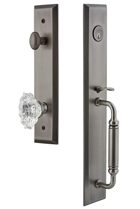 An image related to Grandeur 842537 Pewter Lever Lockset Lock