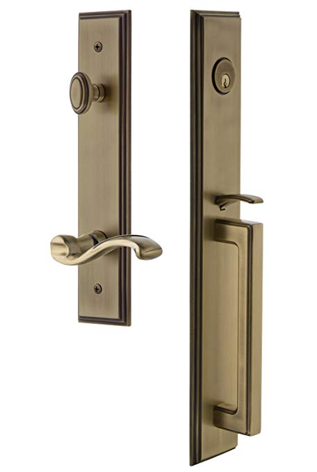 An image related to Grandeur 847588 Brass Lever Lockset Door Lock