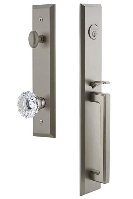 An image related to Grandeur 846204 Brass Satin Nickel Lever Lockset Lock