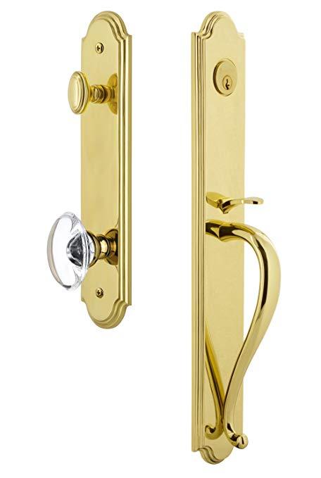 An image related to Grandeur 844274 Brass Lever Lockset Lock
