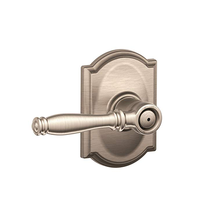 An image related to Schlage F40BIR619CAM Privacy Satin Nickel Lever Lockset Lock