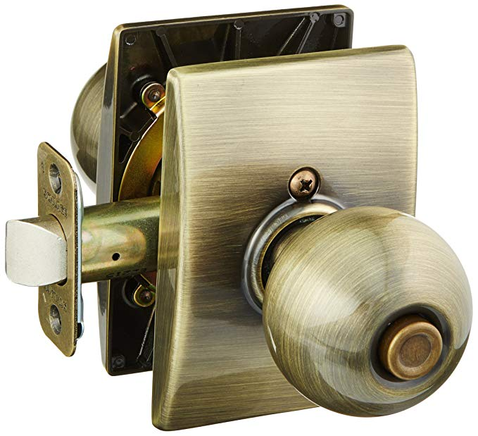 An image of Schlage F40ORB609CEN Privacy Brass Lever Lockset Lock | Door Lock Guide