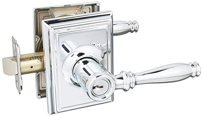An image of Schlage F51ABIR625ADD Entry Chrome Effect Lever Lockset Lock