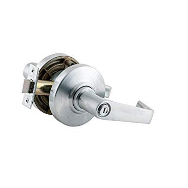 An image of Schlage AL40S SAT 626 Privacy Satin Chrome Lock | Door Lock Guide
