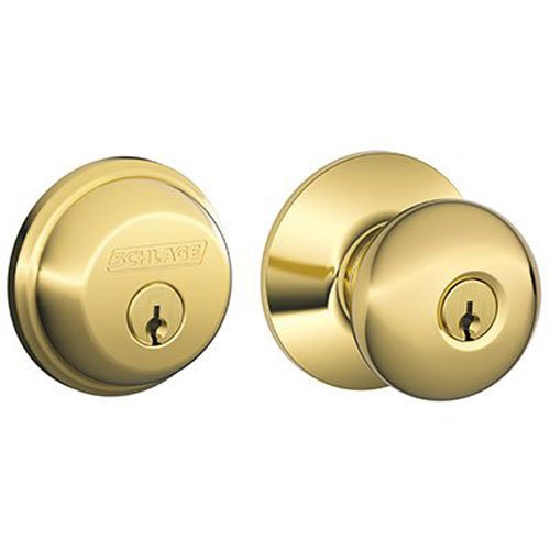 An image of Schlage FB50N V PLY 505 Entry Brass Lever Lockset Lock