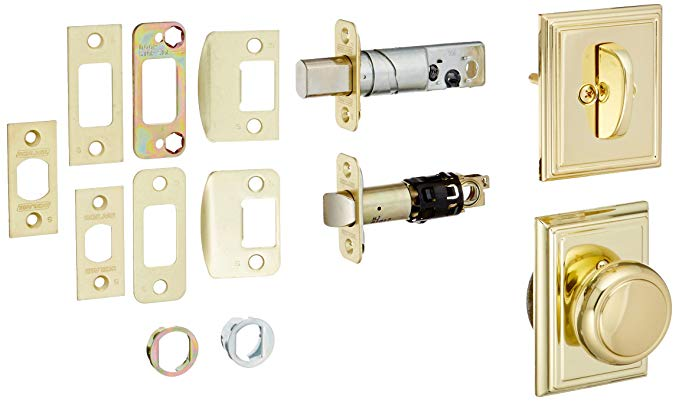 An image of Schlage F59AND605ADD Polished Brass Lock | Door Lock Guide