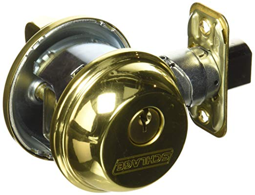 An image of Schlage B60NV505 Brass Lock