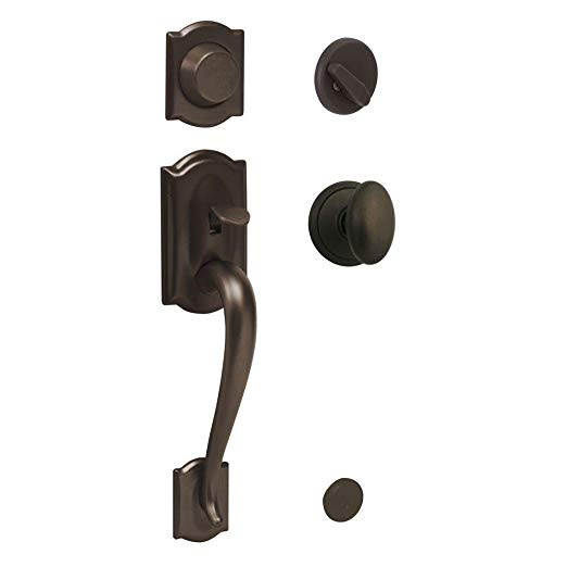 An image of Schlage 496331 Oil-Rubbed Bronze Lever Lockset Lock