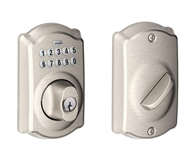 An image related to Schlage BE365CAM619 Satin Nickel Lock