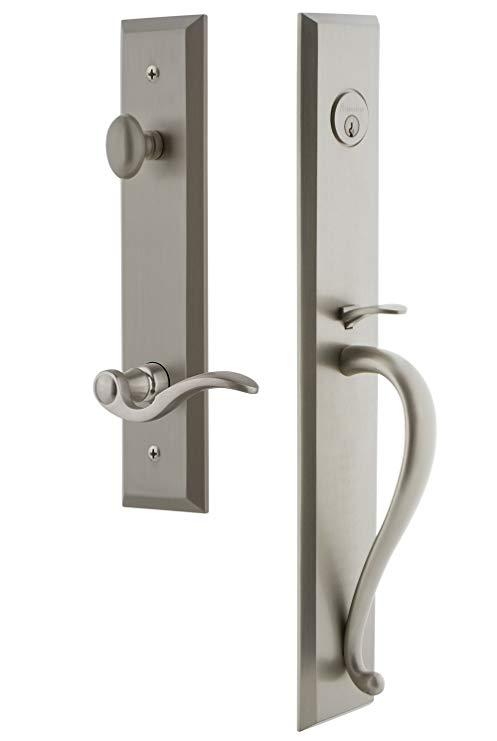 An image related to Grandeur 847653 Satin Nickel Lever Lockset Lock