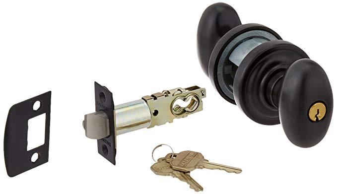 An image of Baldwin 5225.102.ENTR Entry Brass Oil-Rubbed Bronze Lock