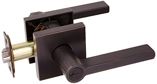 An image related to Kwikset 156HFLSQT-11PS Entry Brass Venetian Bronze Lock
