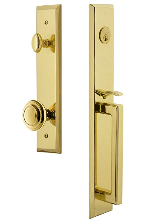 An image related to Grandeur 846013 Brass Lever Lockset Lock