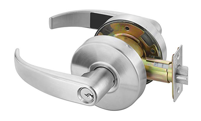 An image related to Yale PB4607LN LKST 1806 Entry Satin Chrome Lever Lockset Lock
