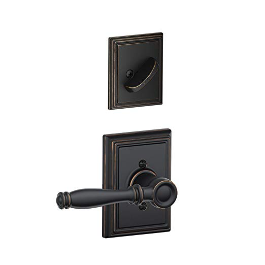An image related to Schlage F59BIR716ADD Aged Bronze Lever Lockset Lock